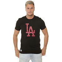 tričko New Era Seasonal Team Logo MLB Los Angeles Dodgers - Black/Carmine
