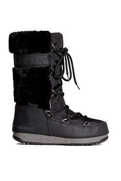 shoes Tecnica Moon Boot Monaco Fur WP - Black - women´s