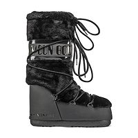 boty Tecnica Moon Boot Classic Faux Fur - Black