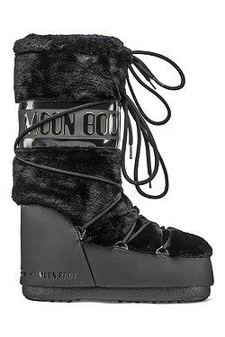 topánky Tecnica Moon Boot Classic Faux Fur - Black
