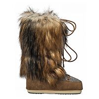 topánky  Tecnica Moon Boot Classic Faux Fox/Tartan - Whisky