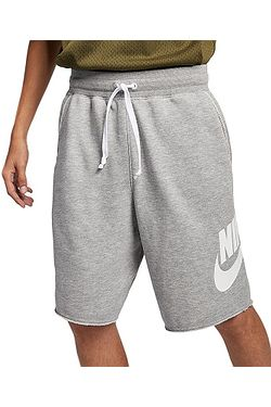 kraťasy Nike Sportswear He Short FT Alumni - 064/Dark Gray Heather/Dark Gray Heather/White