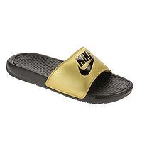 Schuhe Nike Benassi JDI - Black/Black/Metallic Gold - women´s