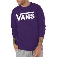 Sweatshirt Vans Classic Crew II - Heliotrope/White - men´s
