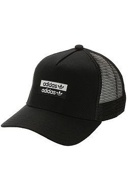 cap adidas Originals Curved Trucker - Black/White - men´s