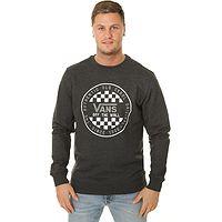 Sweatshirt Vans OG Checker Crew - Black Heather - men´s