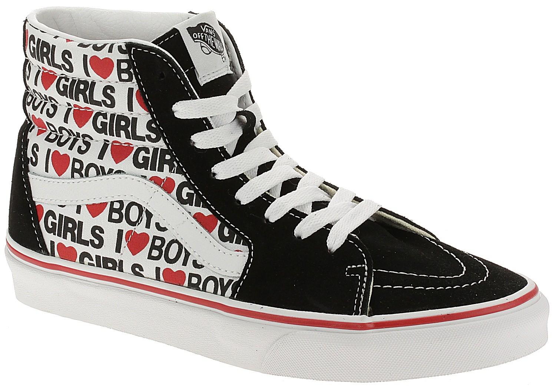 shoes Vans SK8-Hi - I Heart/Black/True White - snowboard-online.eu