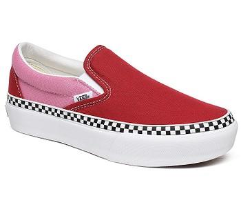 boty Vans Classic Slip-On Platform - 2 Tone/Chilli Pepper/Fuchsia Pink