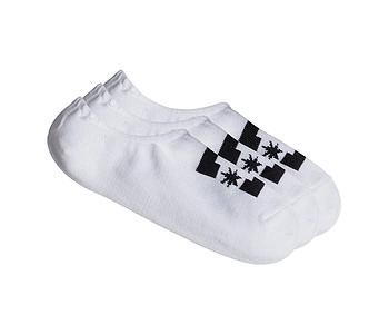ponožky DC SPP DC Liner 3 Pack - WBB0/Snow White