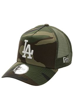 kšiltovka New Era 9FO AF Ess. Camo Trucker MLB Los Angeles Dodgers - Woodland Camo