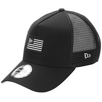 šiltovka New Era 9FO Aframe US Flag Trucker - Black