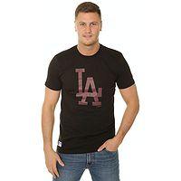 T-Shirt New Era Seasonal Team Logo MLB Los Angeles Dodgers - Black/Burgundy - men´s