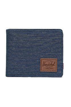 peněženka Herschel Roy Coin RFID - Indigo Denim Crosshatch/Saddle Brown
