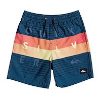swimming shorts Quiksilver Word Block Volley 15 - BSM6/Majolica Blue - boy´s