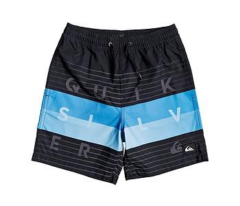 koupací šortky Quiksilver Word Block Volley 15 - KVJ6/Black