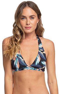 swimsuit Roxy PT Beach Classics Halter - KVJ6/Anthracite Tropicoco S - women´s