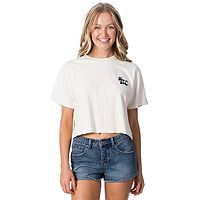 tričko Rip Curl Keep On Surfin Crop - Bone