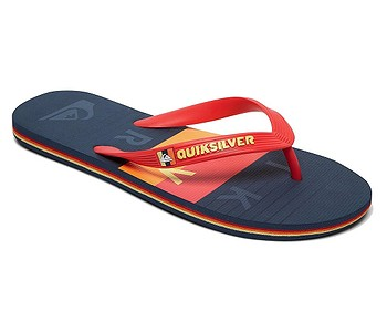 žabky Quiksilver Molokai Word Block - XRBR/Red/Blue/Red