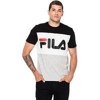T-Shirt Fila Day - Black/Light Gray Melange/Bright White - men´s