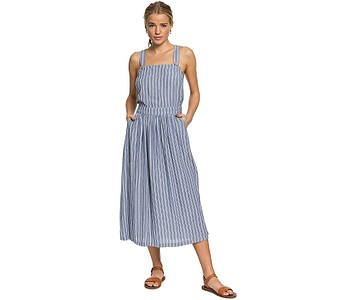 šaty Roxy Summer Transparency - BPZ3/True Navy Birdy Stripes