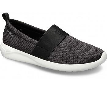 boty Crocs LiteRide Mesh Slip-On - Black/White