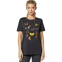 T-Shirt Fox Monarch - Black Vintage - women´s