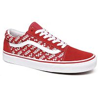 buty Vans Old Skool - Logo Repeat/Racing Red/True White