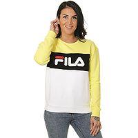 sweat-shirt Fila Leah Crew - Limelight/Bright White/Black - women´s