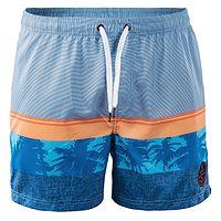 Short de bain AquaWave Palawan - Bleu/Orange/Palm Print - men´s