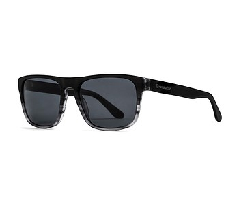 brýle Horsefeathers Keaton - Matt Black/Turtle Gray/Polarized
