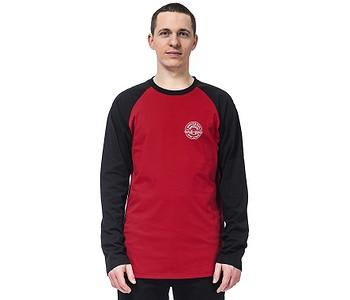tričko Horsefeathers Vale LS - Lava Red