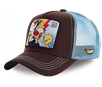 kšiltovka Capslab Looney Tunes Trucker - Titi VS Gros Minet/Brown