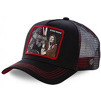 kšiltovka Capslab Star Wars Trucker - Vader And Obi-Wan/Black