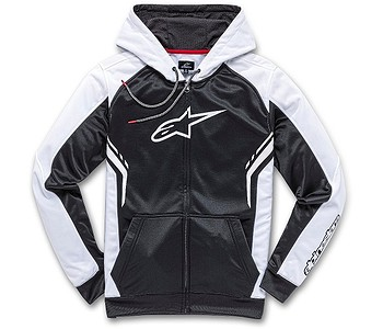 mikina Alpinestars Strike Fleece Zip - Black/White