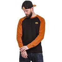 T-Shirt Nugget Duplex LS - C/Black/Cognac Brown - men´s