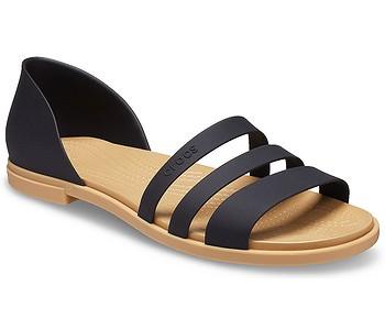 boty Crocs Tulum Open Flat - Black/Tan