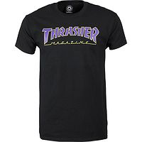 T-shirt Thrasher Outlined - Black