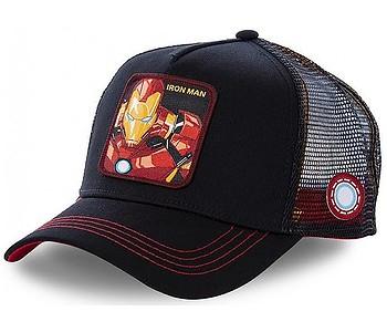 šiltovka Capslab Marvel Trucker - Iron Man/Black