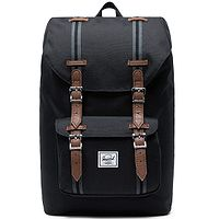 backpack Herschel Little America Mid - Black/Black/Tan