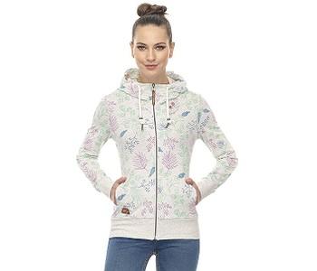 mikina Ragwear Paya Flowers Zip - 7000/White