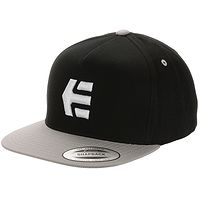 cap Etnies Icon Snapback - Black/Silver - men´s