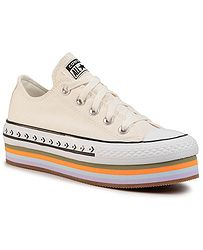 boty Converse Chuck Taylor All Star Platform Layer OX - 567847/Egret/Total Orange/Gum