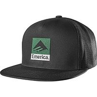 boné de basquete Emerica Classic Snapback - Black/Green - men´s