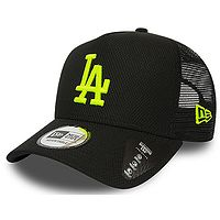 boné de basquete New Era 9FO AF Diamond Era Trucker MLB Los Angeles Dodgers - Black/Neon Yellow - men´s