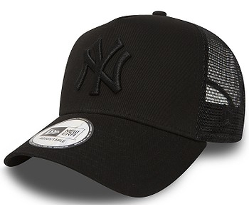 kšiltovka New Era 9FO AF Clear Trucker MLB New York Yankees - Black/Black