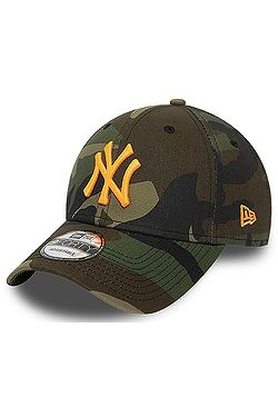 cap New Era 9FO Camo Essential MLB New York Yankees - Woodland Camo/Neon Orange - men´s