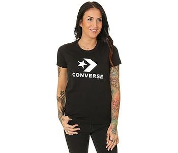 tričko Converse Scripted Star Chevron Crew/10018569 - A02/Converse Black