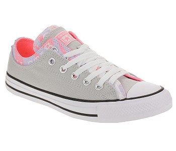 boty Converse Chuck Taylor All Star Double Upper OX - 567746/Mouse/Multi/White