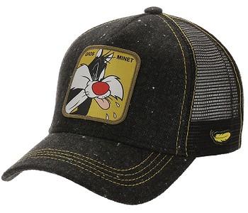 kšiltovka Capslab Looney Tunes Trucker - Sylvester/Black