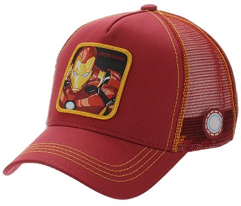 kšiltovka Capslab Marvel Trucker - Iron Man/Red